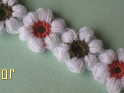 DIY - Flor facil en relieve, de 6 pétalos  DIY - Easy relief flower of 6 petals