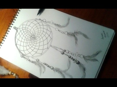 Drawing a dream catcher - Dibujando un atrapasueños