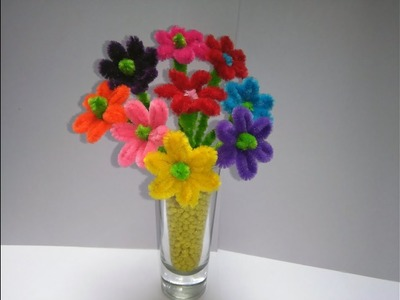 ???? FLORES LIMPIAPIPAS AREGLO  (pipe cleaner flower)