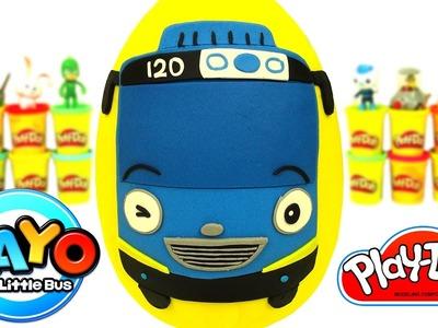 Huevo Sorpresa Gigante de Tayo el Pequeño Autobús en Español de Plastilina Play Doh