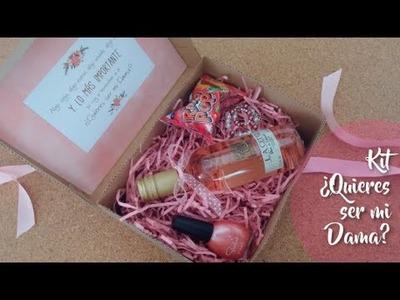 KIT ¿Quieres ser mi DAMA? | Ideas para boda, regalo damas