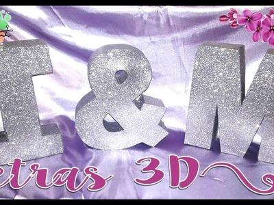 Letras 3D (brillos)
