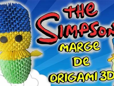Marge de origami 3d.Los Simpson.Origamileo