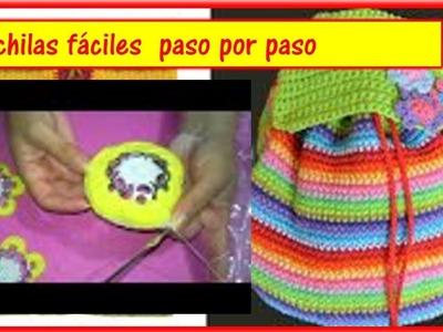Mochila  en crochet hermosa y fácil