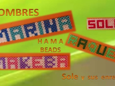 Nombres con Hama Beads