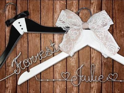 Perchas personalizadas para boda | Regalo de boda fácil y original
