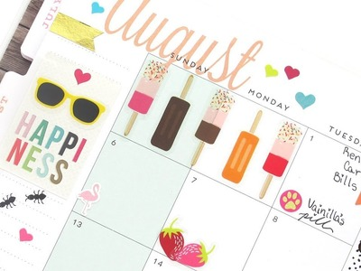 Plan With Me Monthly - August: Mambi | The Happy Planner 2017