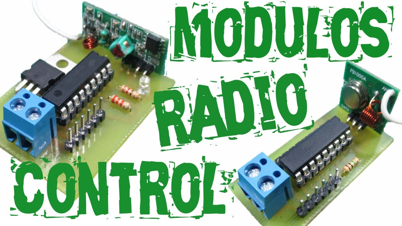 RADIO CONTROL 4 CANALES |módulos | fácil de hacer