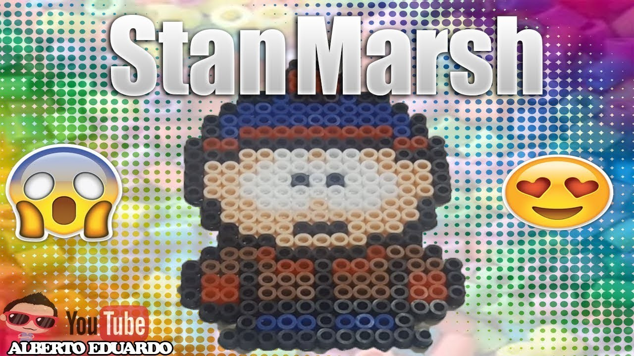 Stan south park hama beads ( perler beads )