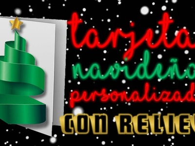 Tarjeta navideña con relieve. Relief holiday cards ????⛄