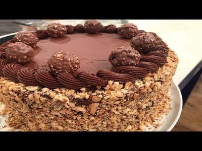 Torta bombón de chocolate y avellanas