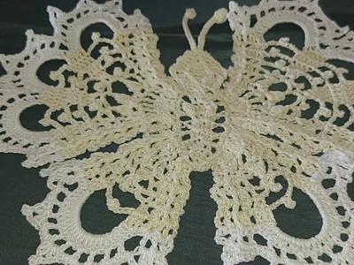 Tutorial  1 parte de mariposa tejida a croche