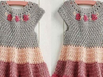 Vestidos para Niñas Tejidos a Crochet Rapido y facil