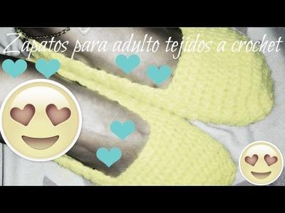 Zapatos o pantuflas UNISEX para adulto tejidos a crochet by Alexandra Sacasa