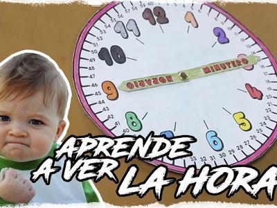 Aprender a ver la hora. hacer un reloj para niños