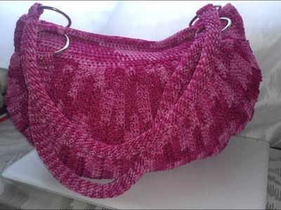 Bolso tejido a Crochet en Punto De Media Luna.LA LUNA DEL CROCHET