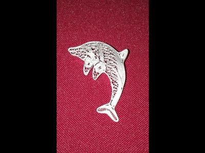 Broche De Delfín En Filigrana (hilos de plata)