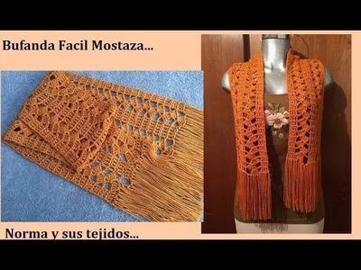 Bufanda Fácil Mostaza