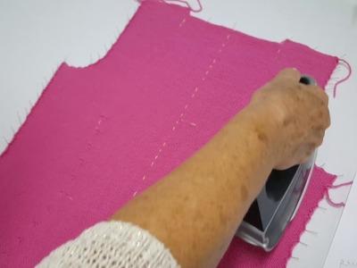 Chaqueta de punto para mujer tutorial. 14º paso, planchado de las piezas