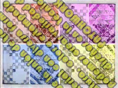 Como crear un patrón en patchwork - Básico. How to create a patchwork pattern - Beginner