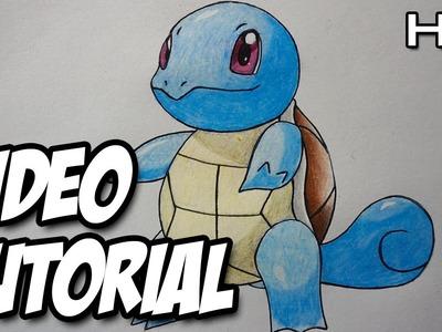 Cómo dbujar a Squirtle de Pokémon Paso a Paso - Tutorial Squirtle Pokémon N°05