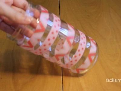 Cómo decorar un tarro de cristal con washi tape | facilisimo.com