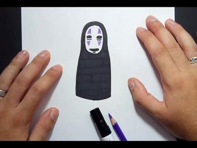 Como dibujar a Kaonashi paso a paso - El viaje de Chihiro   How to draw Kaonashi - Spirited Away