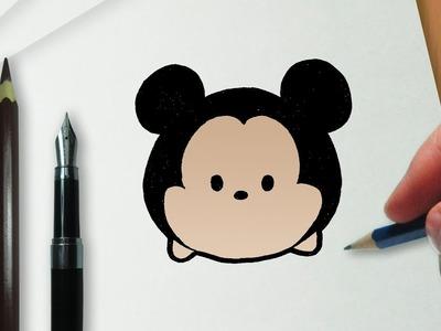 Cómo dibujar a Mickey en la versión Disney Tsum Tsum