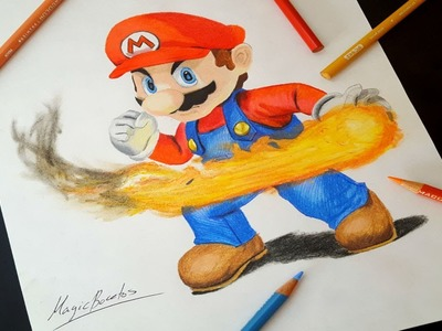 Cómo Dibujar A SUPER MARIO BROS.How To Draw SUPER MARIO BROS-MagicBocetos-Tutorial Paso A Paso