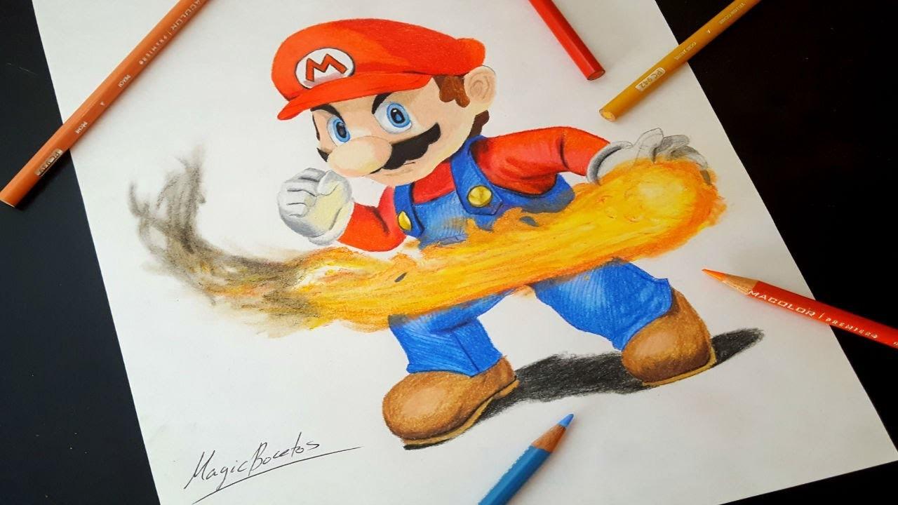 Cómo Dibujar A SUPER MARIO BROS.How To Draw SUPER MARIO BROS-MagicBocetos-Tutorial Paso A Paso
