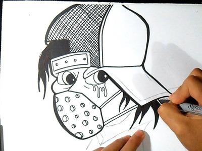 Cómo dibujar caracter con gorra Graffiti | Wizard art - by  Graffiti Wörld