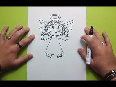 Como dibujar un angel paso a paso 5 | How to draw an angel 5
