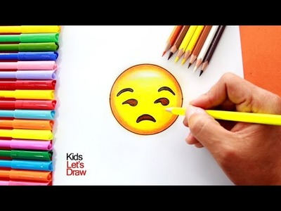 Cómo dibujar un Emoji paso a paso 5 | How to draw an Unamused Emoji