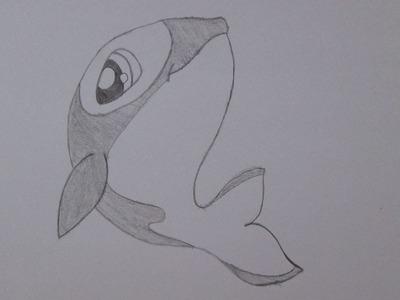 Cómo dibujar una ballena asesina