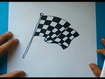 Como dibujar una bandera de cuadros paso a paso | How to draw a checkered flag
