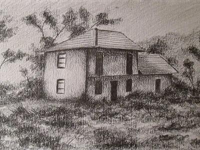 Cómo dibujar una casa en el campo, cómo dibujar paisajes a lápiz HD