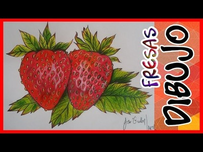 Como Dibujar Unas Fresas Con Lapices de Colores   ArtQuit Draw