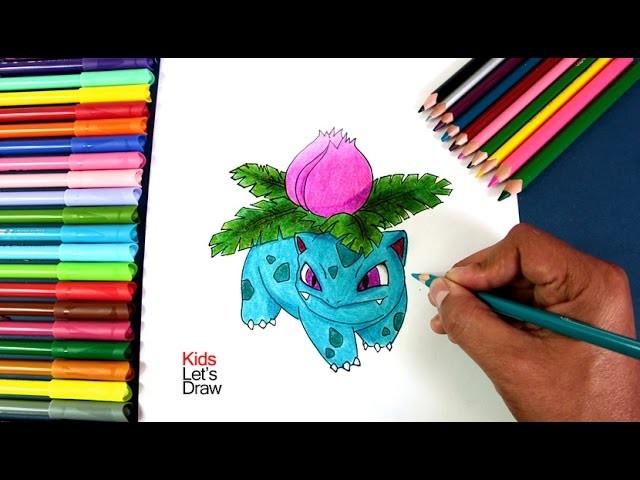 Pokemon Bulbasaur Para Colorear: Cómo Dibujar Y Colorear A IVYSAUR (Pokémon GO), How To