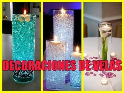 Como hacer decoraciones de velas para centros de mesas