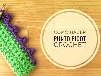 Cómo hacer el punto picot en crochet (ganchillo)