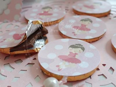 """Como hacer toppers para cupcakes con tijeras""""!"""