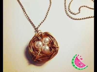 Como hacer un nido de alambre!!  Un complementos para tus accesorios