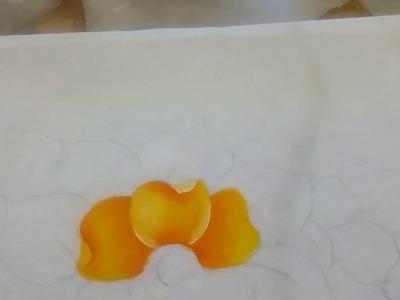 Como pintar una flor básica | Técnica de sombras y luz | Pintura en tela