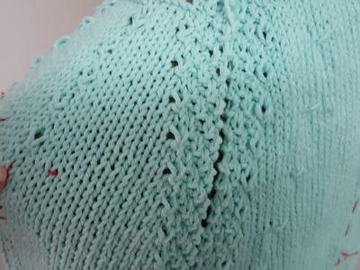 Cómo tejer una espalda para manga ranglan.