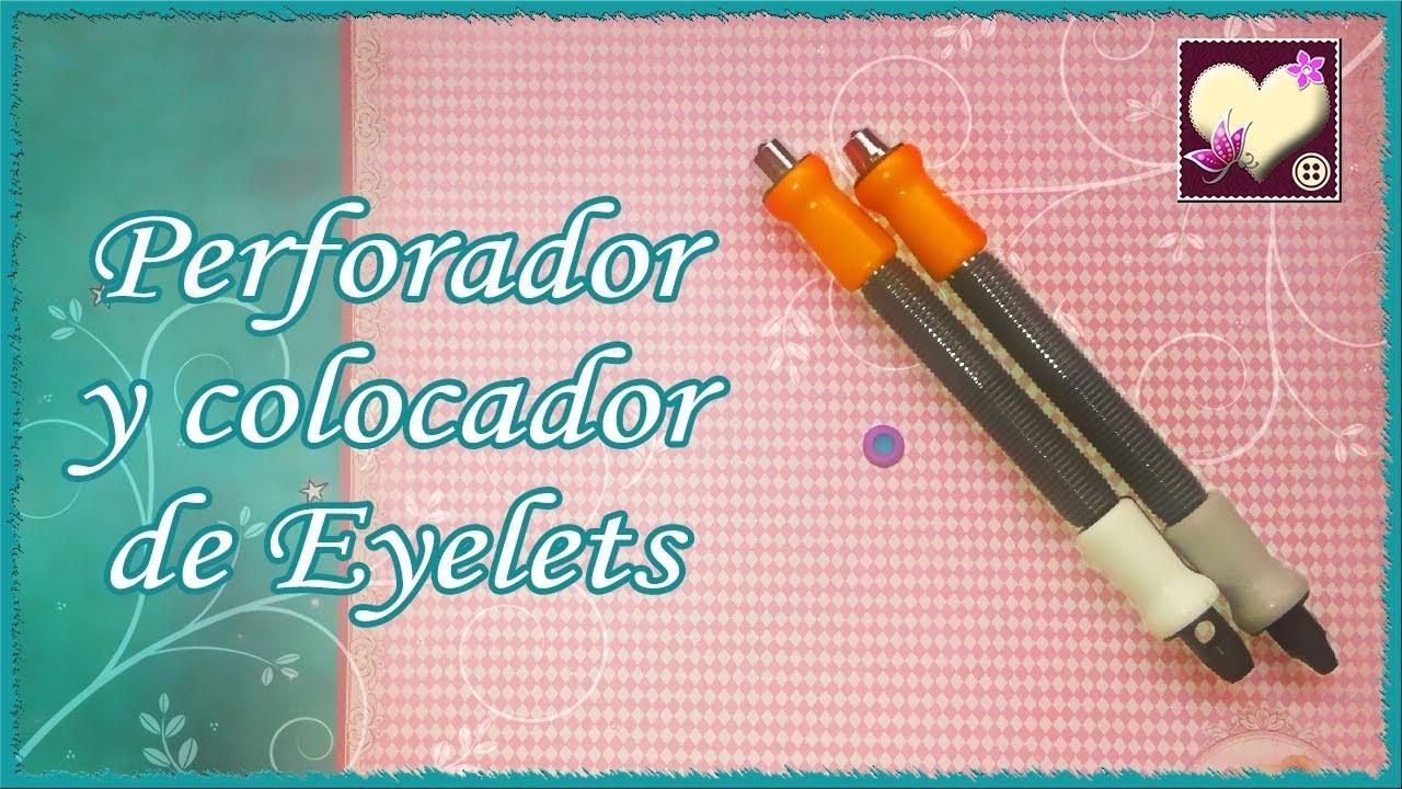 Cómo usar el perforador y colocador de eyelets de Fiskars.