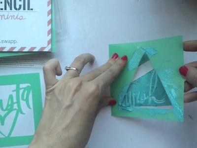 Cómo usar máscaras o stencils. Tutorial scrapbooking - Dos Piruletas para Kimidori