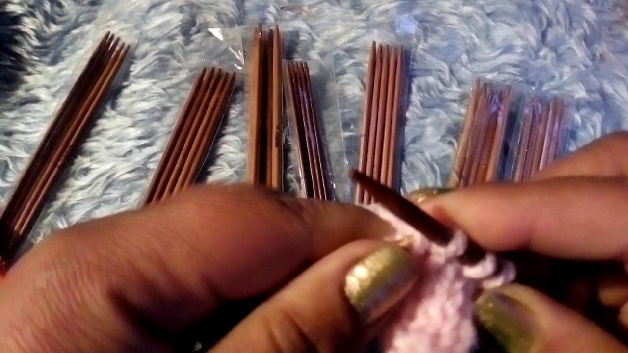 Cordón tejido con agujas de 2 puntas
