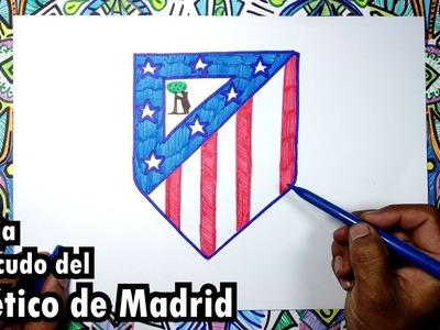 Dibuja el escudo oficial del Club Atletico de Madrid