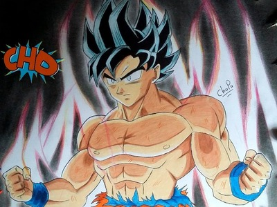 DIBUJANDO A GOKU NUEVA TRANSFORMACION: DRAGON BALL SUPER.DRAWING LIMIT BREAKER GOKU