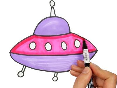 Dibujar Astronave   Cómo dibujar y colorear los para niños